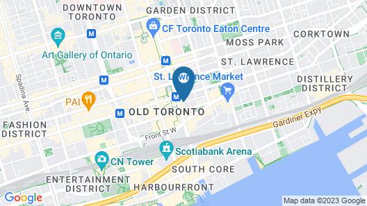 Executive Hotel Cosmopolitan Toronto Map