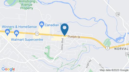 Best Western Halton Hills Map