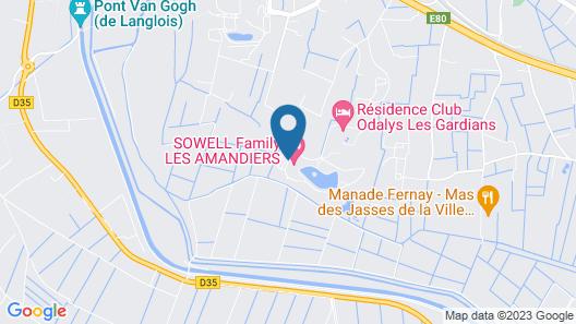 Club Hôtel Soleil Vacances Les Amandiers Map