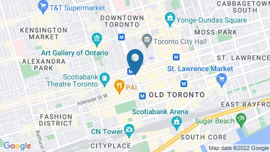 Hilton Toronto Map