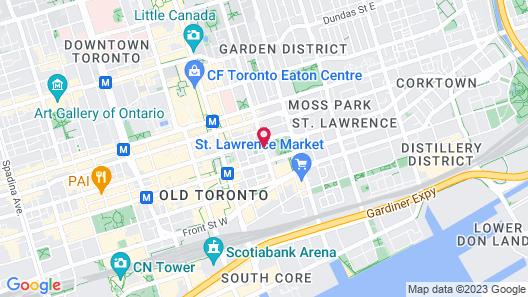 HI-Toronto Hostel Map