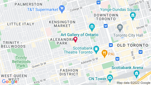 Super 8 by Wyndham Downtown Toronto Map