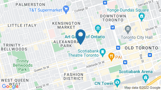 Super 8 by Wyndham Downtown Toronto Map
