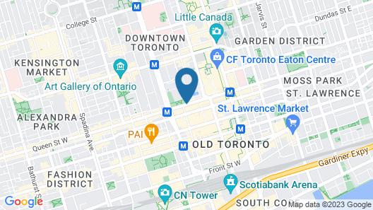 Sheraton Centre Toronto Hotel Map