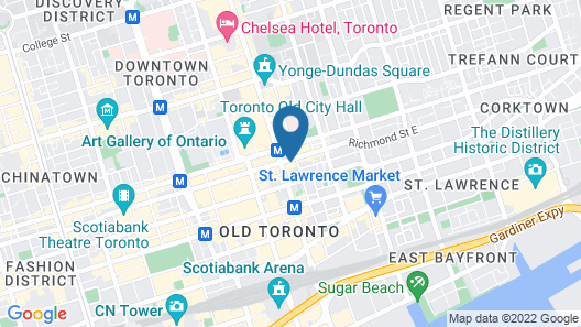 Cambridge Suites Hotel - Toronto Map