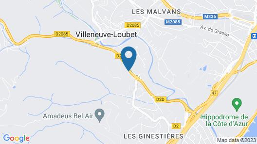 B&B Hotel Villeneuve-Loubet Village Map