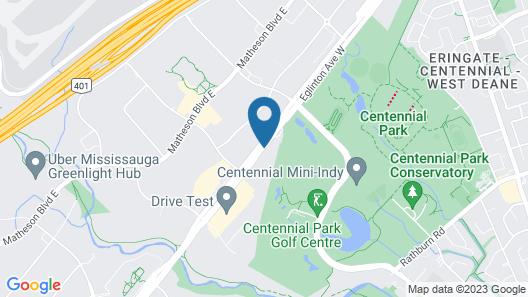 Best Western Plus Travel Hotel Toronto Airport Map