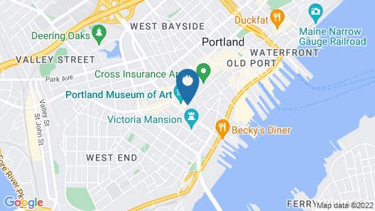Holiday Inn Portland-By the Bay Map