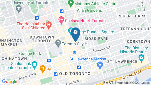 Pantages Hotel Downtown Toronto Map