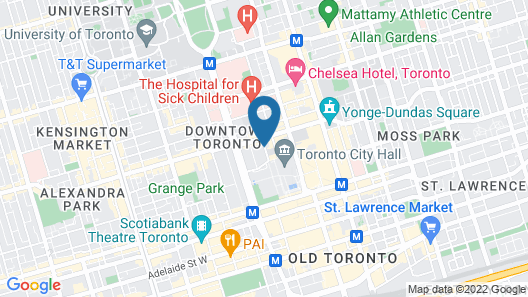 DoubleTree by Hilton Hotel Toronto Downtown Map