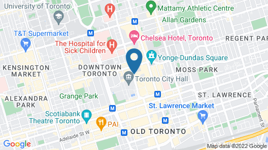 Marriott Downtown at CF Toronto Eaton Centre Map