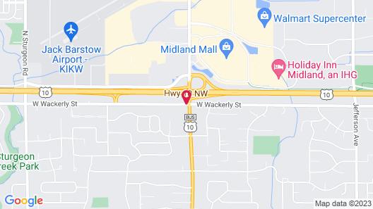Sleep Inn Midland Map