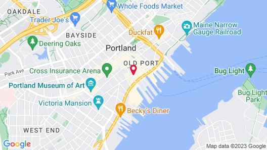 Hyatt Place Portland-Old Port Map