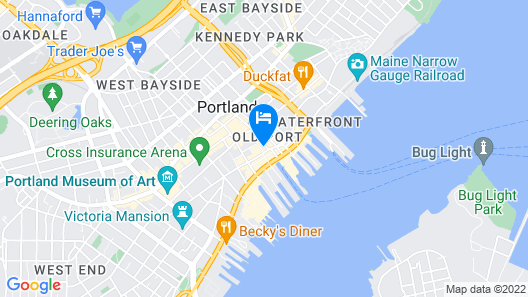 Old Port Apartment a Block From The Waterfront. 25% Discounts Map