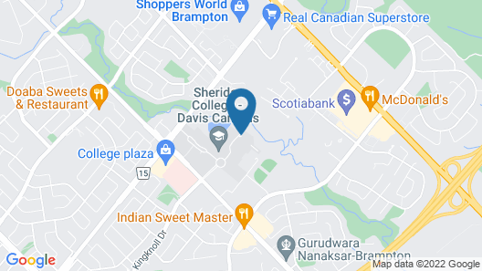 Residence & Conference Centre - Brampton Map