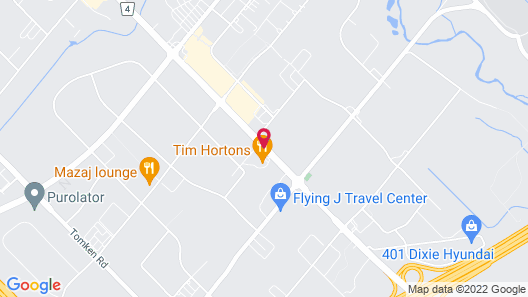 Four Points by Sheraton Toronto Mississauga Map