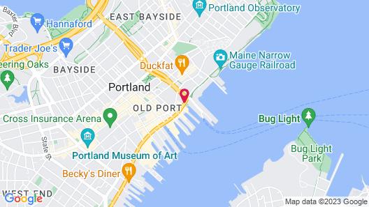 Hilton Garden Inn Portland Downtown Waterfront Map