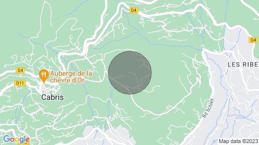 Bastide Cabris Near Cannes Sleeps 8, Pool, 110 m² Terrace, sea View Map