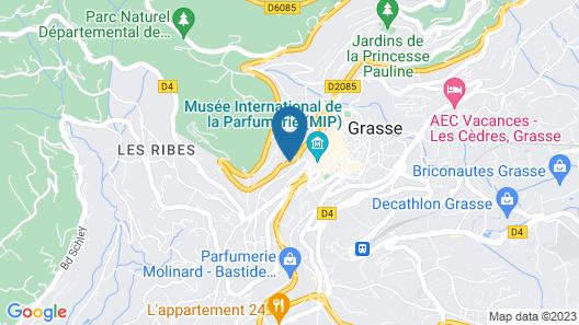 Les Palmiers Grasse Map