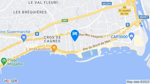 Pierre & Vacances Residence Heliotel Marine Map