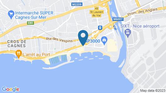 Holiday Inn Nice-Port St Laurent Map