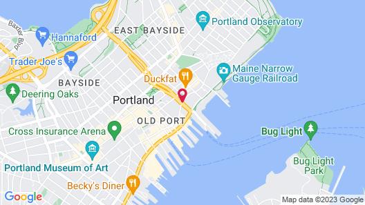 Hampton Inn Portland Downtown Waterfront Map