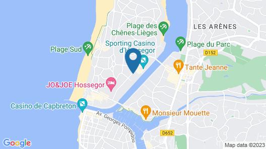 Hôtel Les Fougères Map