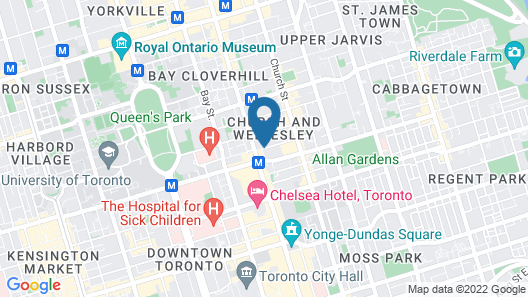 Courtyard by Marriott Downtown Toronto Map