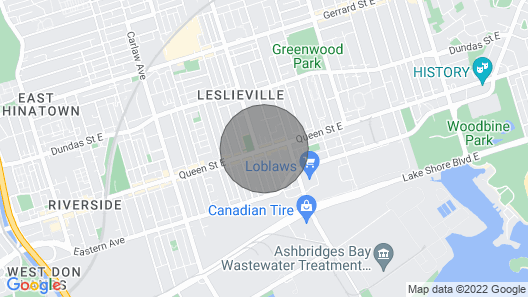 Modern Queen E 2BR W/free Parking-casa Leslieville Map