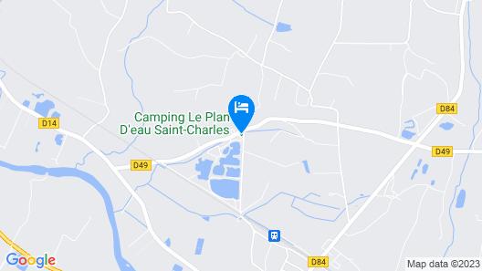 Camping Le Plan d'Eau Saint Charles  Map