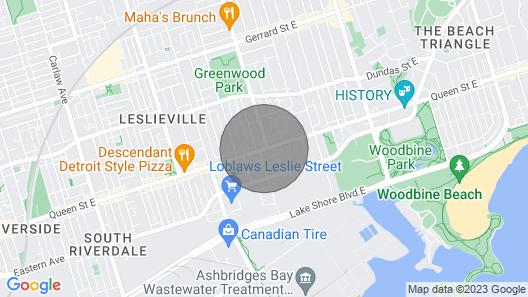 Designer 1 Bedroom W/parking Quiet Area Casaleslie Map