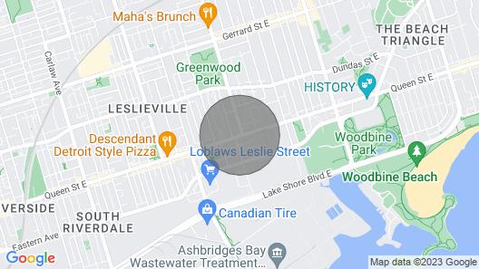 Designer 2 Bedroom W/parking Quiet Area Casaleslie Map