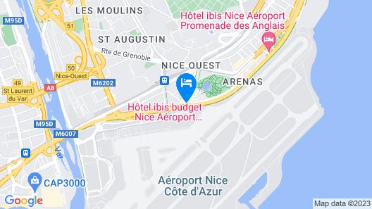Novotel Nice Arenas Aeroport Map
