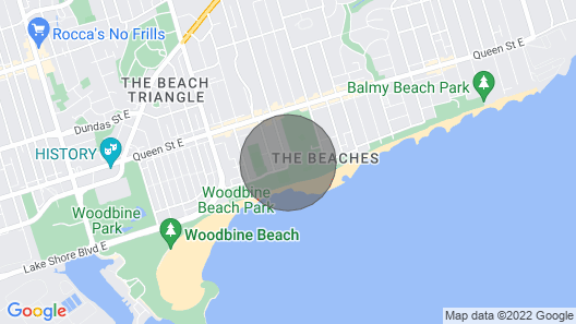 Spectacular Toronto Home on Beach With Private Pool! Map