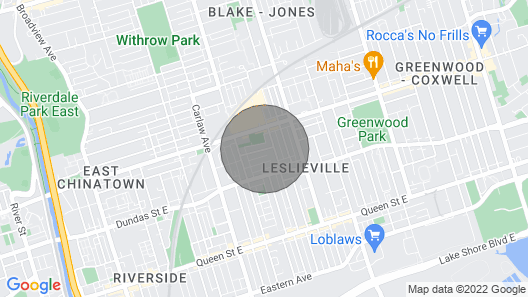 Private Cottage / Studio In Leslieville -Separate Entrance & Contactless Checkin Map