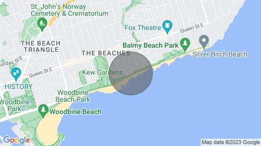 Comfy at The Beach, Toronto (minimum stay - 28 nights) Map