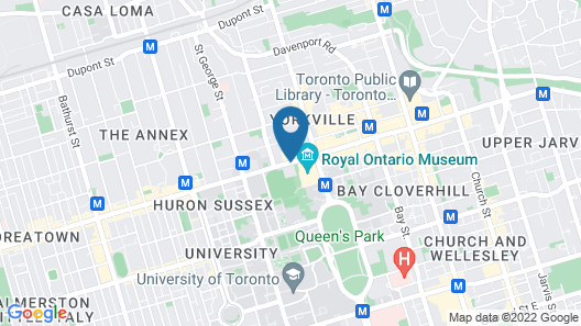 InterContinental Toronto Yorkville Map