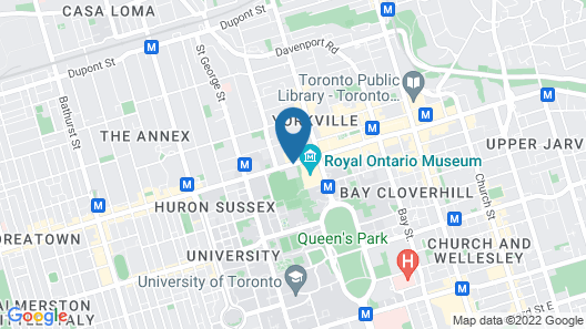 The Yorkville Royal Sonesta Hotel Toronto Map