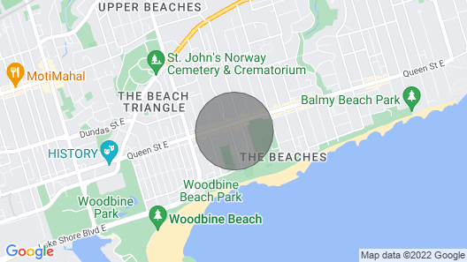 The Woodbine Beach House450yds From the Beach Rooftop Gardenparking Map