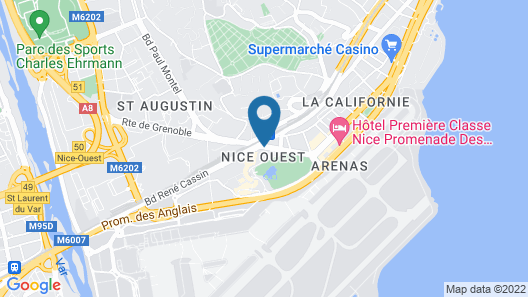 ibis Styles Nice Aéroport Arenas Map