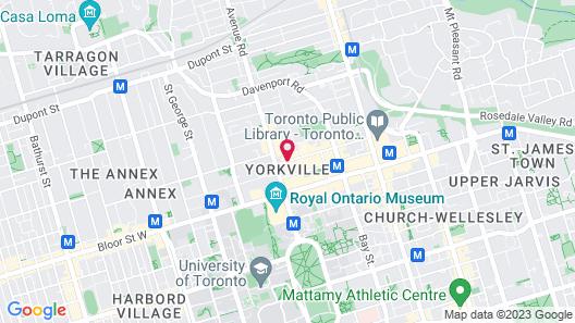 The Hazelton Hotel Toronto Map