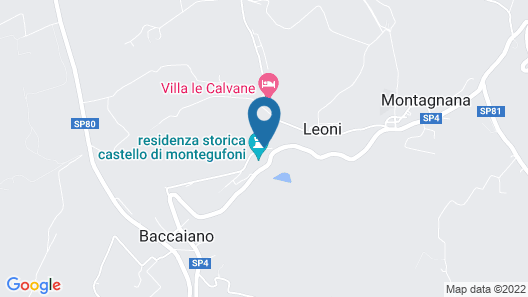 Castello di Montegufoni Map
