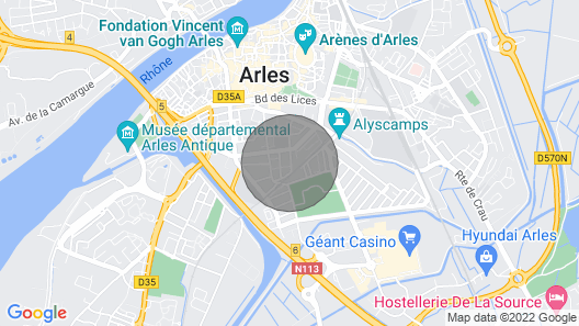 Holiday Home in the Center of Arles Map