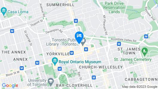 Luxury 2BR Condo in Yorkville Map