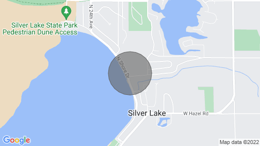 Silver Lake & Sand Dunes - Enjoy Life on the Lake or off Road in the Sand Dunes Map