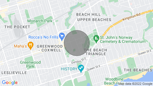 New Luxury Executive House - Upper Beaches Toronto Map