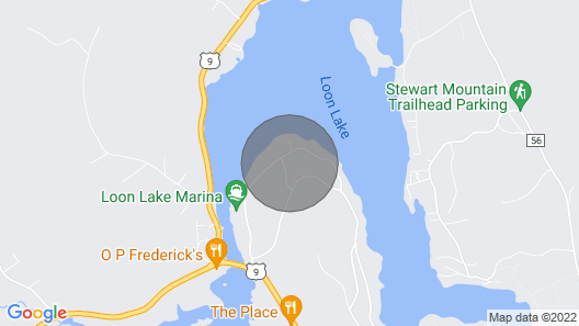 Loon Lake Retreat With Private Dock Map