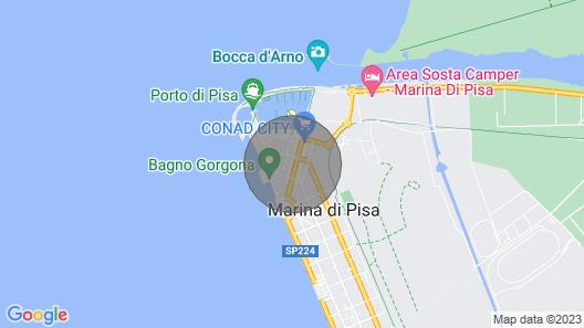 Casa da Nara Marina di Pisa Map