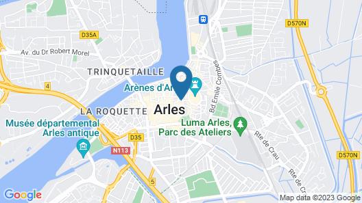 Hôtel de l'Amphithéâtre Map