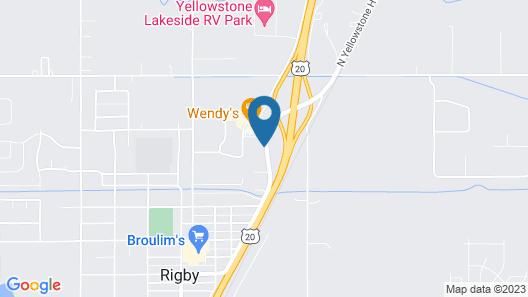 Motel 6 Rigby, ID Map